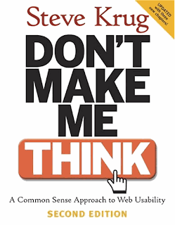 Cover image of Steve Krug's book, Don't make me thingk