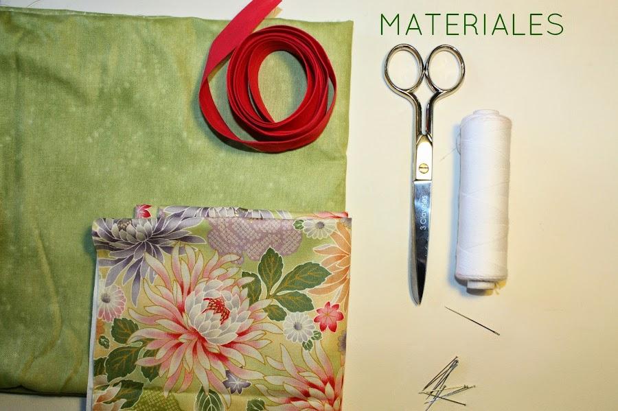 Una manta para guardar las agujas de tejer