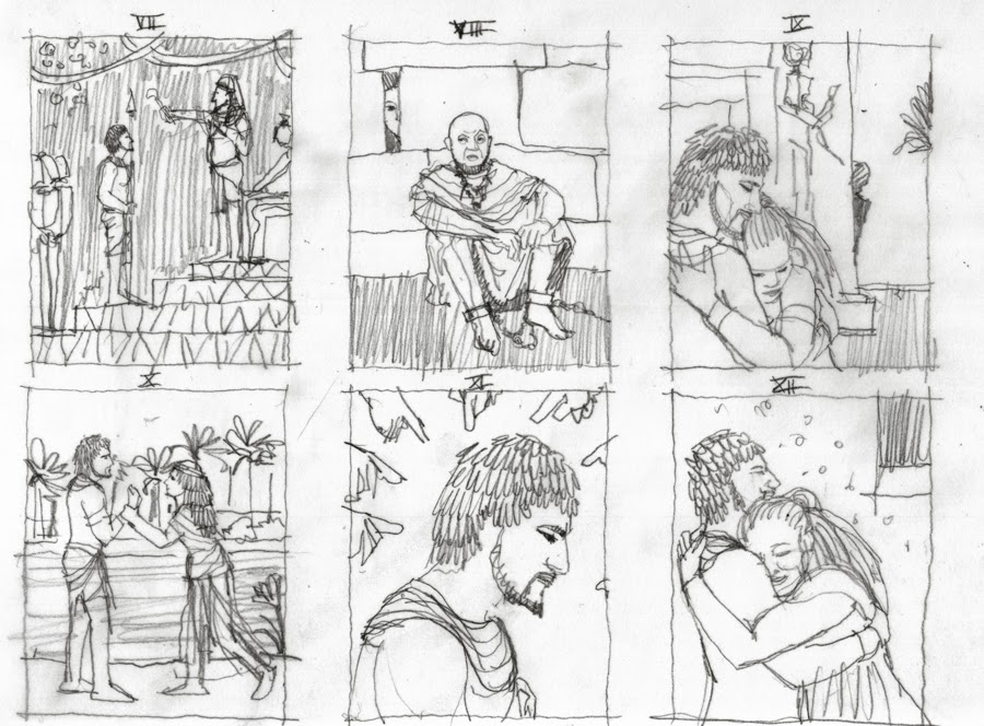 Storyboard 2. Aida di Monica Auriemma. Children's Book Illustration