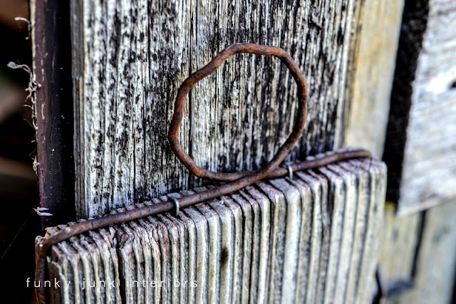 rustic barn wood and rusty metal