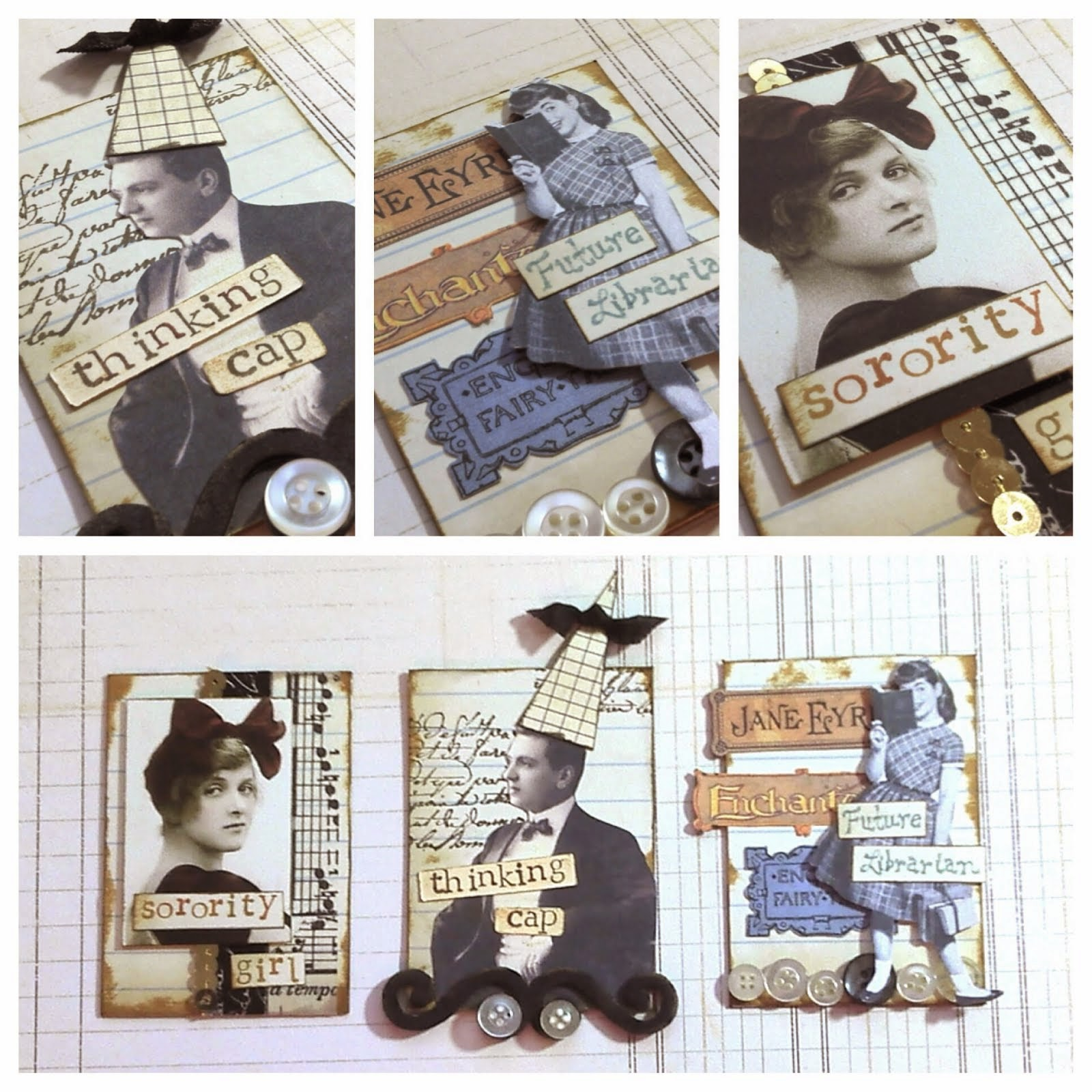 Stunning  back to school ATC  from Jesscia Moore