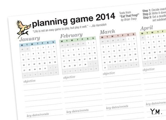Planning Game 2014 par Yukié Matsushita