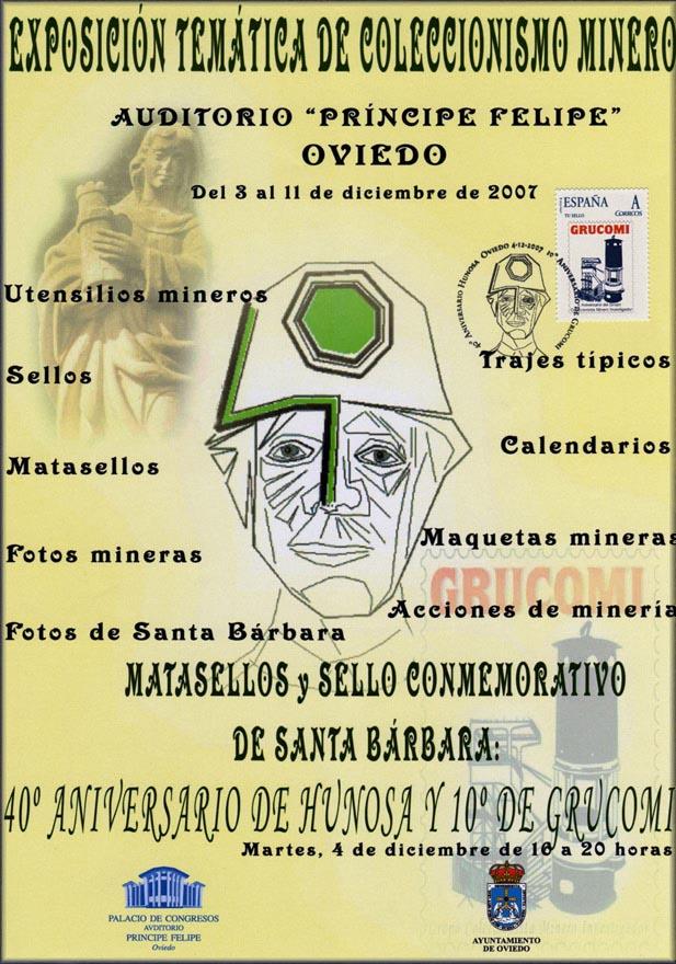 Cartel de la  X Exposición de Coleccionismo de Grucomi en Oviedo