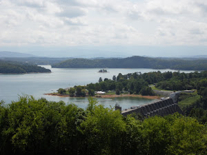 A view from the overlook at Douglas Dam