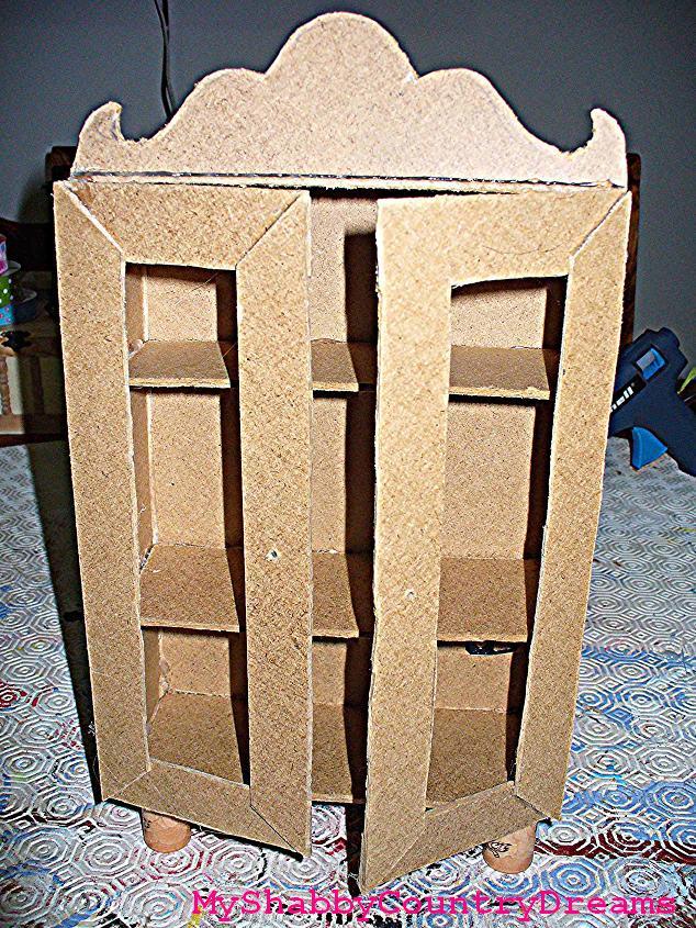 Myshabbycountrydreams mobili per le bambole fai da te - Costruire mobili in cartone ...