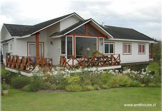 Casa prefabricada de madera moderna chilena