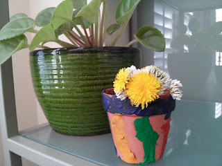 crafts, kids crafts, flowerpot, gift