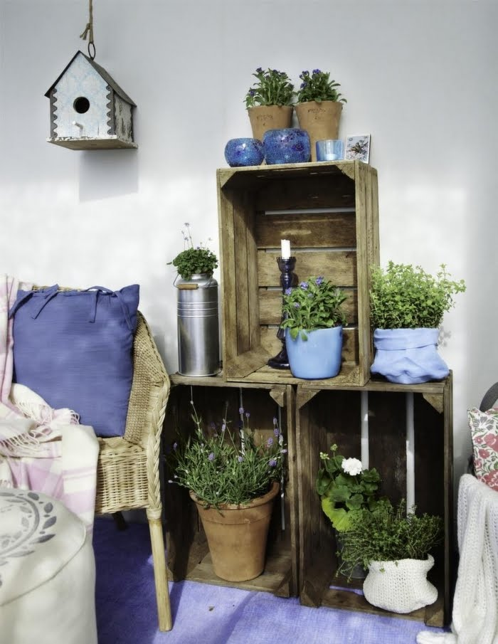 Mas decoraci n con rejas de madera for Decoracion con cajas de madera
