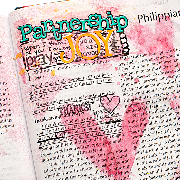 "Heather Greenwood Designs | Mixed Media Art Journaling Bible: Say ""YES"" To Community - Philippians 