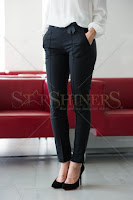 Pantaloni LaDonna Bow Waist Black (LaDonna)