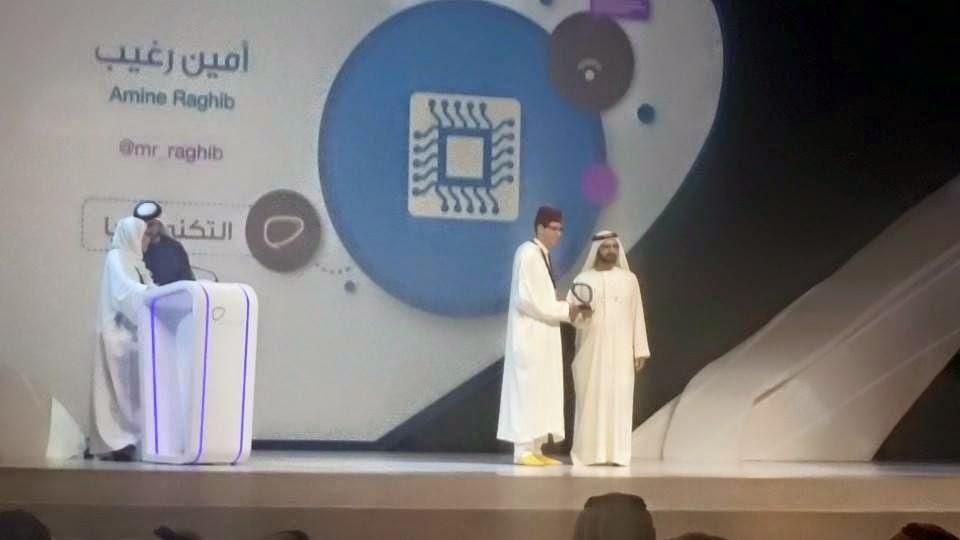 أمين رغيب يفوز بجائزة رواد التواصل الاجتماعي عن فئة التكنولوجيا في دبي
