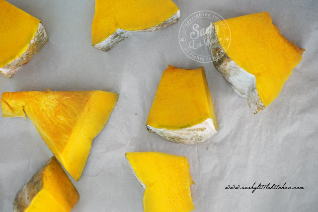homemade pumpkin puree / puree labu kuning