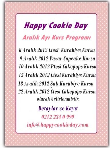 Happy Cookie Day Aralık Ayı Kurs Programı