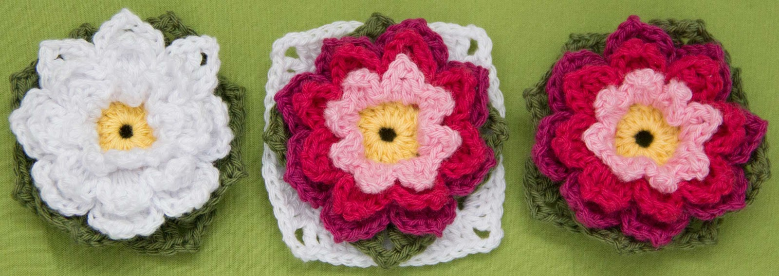 croched flower granny square free patern