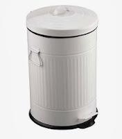 Cubo basura retro blanco metal 20 L
