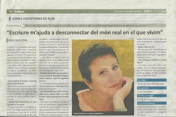 Entrevista en el Diari de Rubí