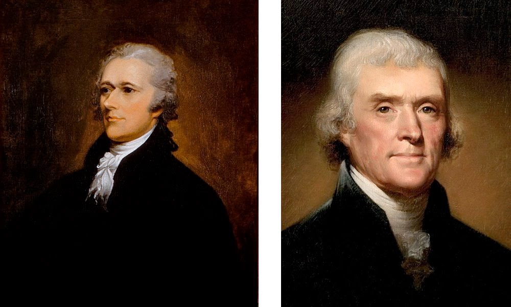 """4 contrast the views of thomas jefferson and alexander hamilton on the political sophistication of t Oakeshott vs america a written constitution might serve as a reminder of the """"admitted goods"""" of a political community, but it won't thomas jefferson."""