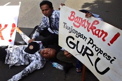 PGRI melaporkan lamanya pencairan dana TPG ini ke pihak ombudsman.