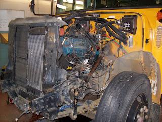 school bus mechanic dt 466 diesel engine in frame rebuild. Black Bedroom Furniture Sets. Home Design Ideas