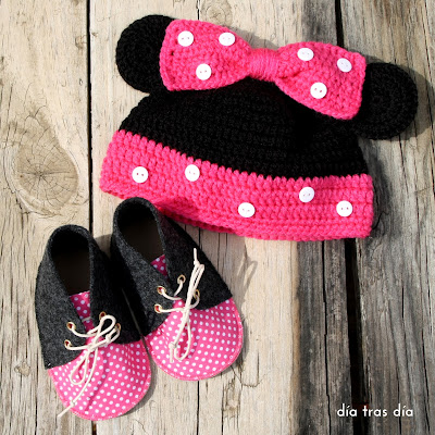 conjunto crochet Minnie