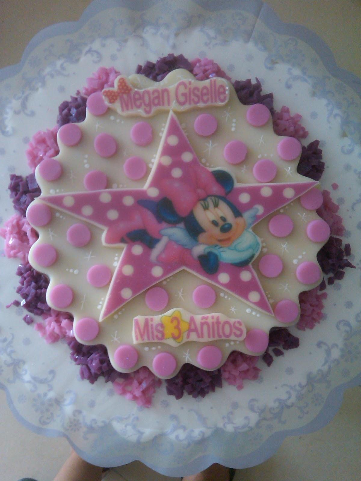 Azucake´s: Torta y Gelatina de Minnie Mouse