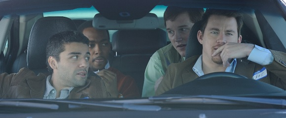 Oscar Isaac, Anthony Mackie, Chris Pratt e Channing Tatum em 10 ANOS DE PURA AMIZADE (10 Years)