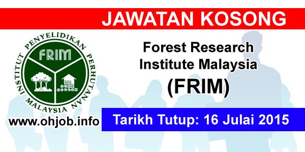 Jawatan Kerja Kosong Forest Research Institute Malaysia (FRIM) logo www.ohjob.info julai 2015