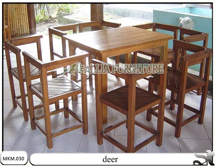 Kursi makan minimalis dan meja deer