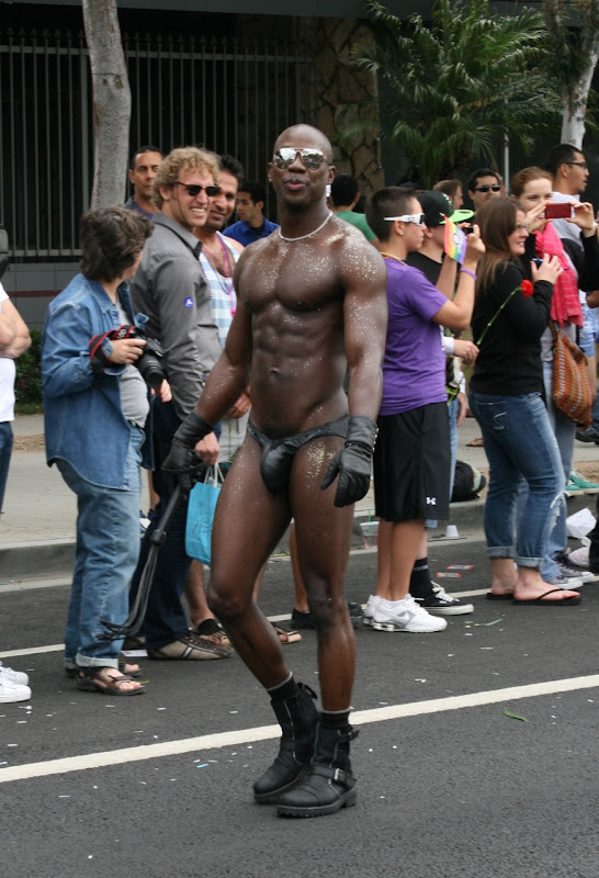 Hot muscle guy WEHO Pride Parade 2011