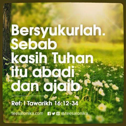 Gambar Ayat Alkitab tentang Bersyukur oleh sebab Kasih Tuhan