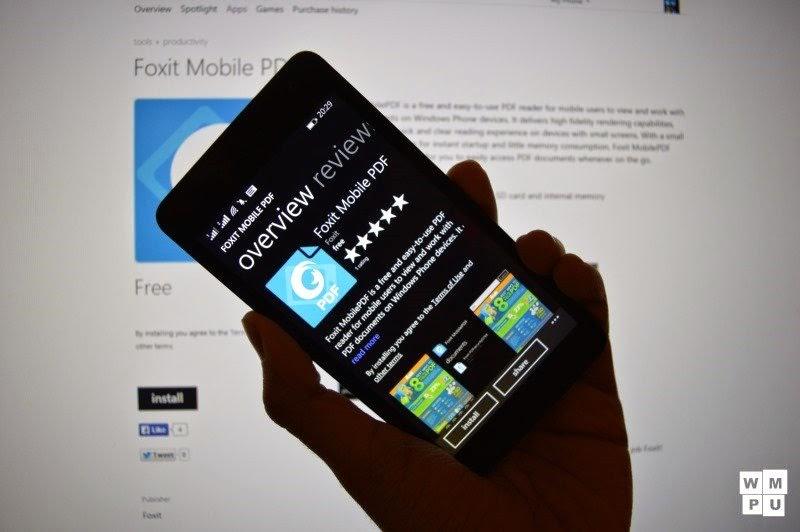Foxit, leitor de arquivos PDF chega ao Windows Phone