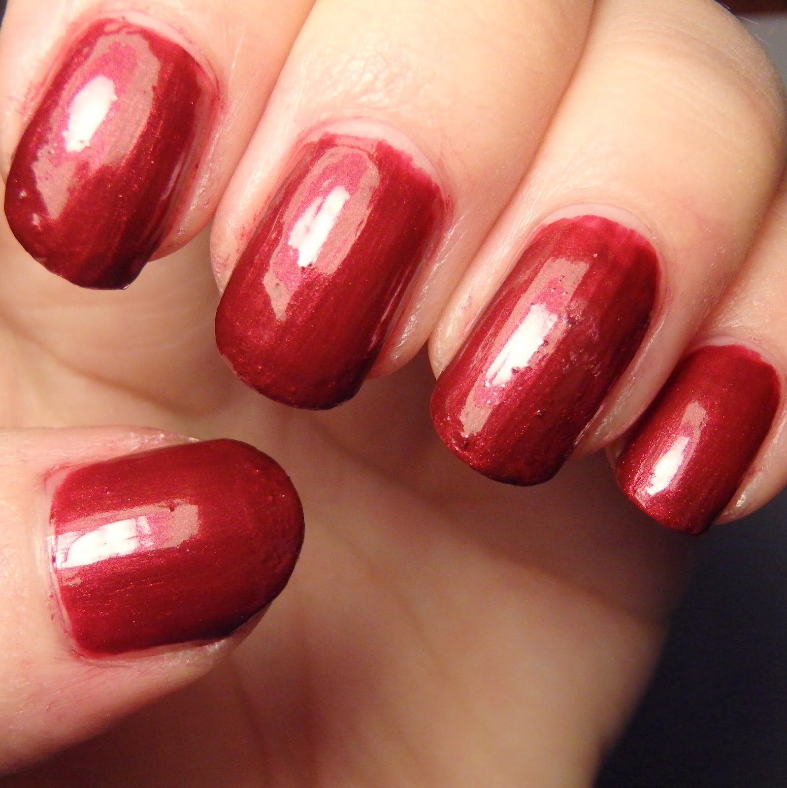 Quixii\'s Nails: Swatch: Wet \'n\' Wild - Burgundy Frost