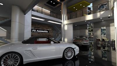 PX Auto Showroom Set
