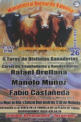 Rafael Orellana, Fabio Castañeda y Manolo Muñoz, anunciados en Valencia, el 26/04.