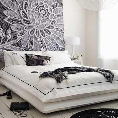 branco e preto Quartos em preto e branco
