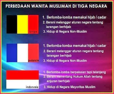 3 perbedaan wanita muslimah di 3 negara