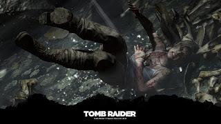 Tapeta z gry Tomb Raider 1920x1080: upadek Lary