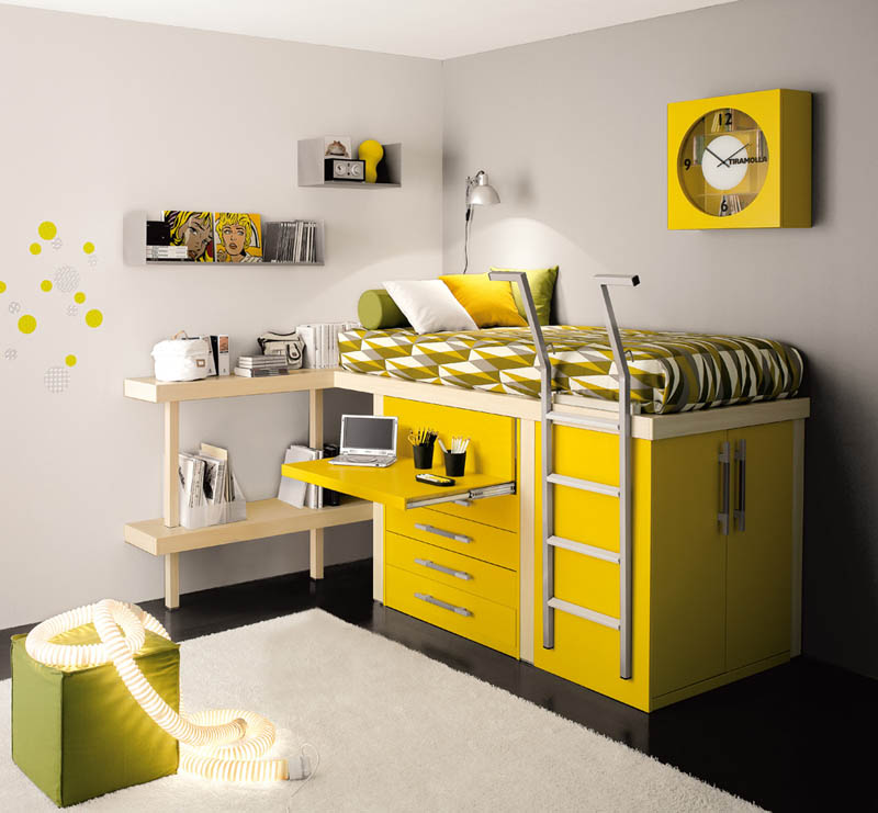 Funmaniya cool space saving kids rooms pictures for Cool space saving ideas