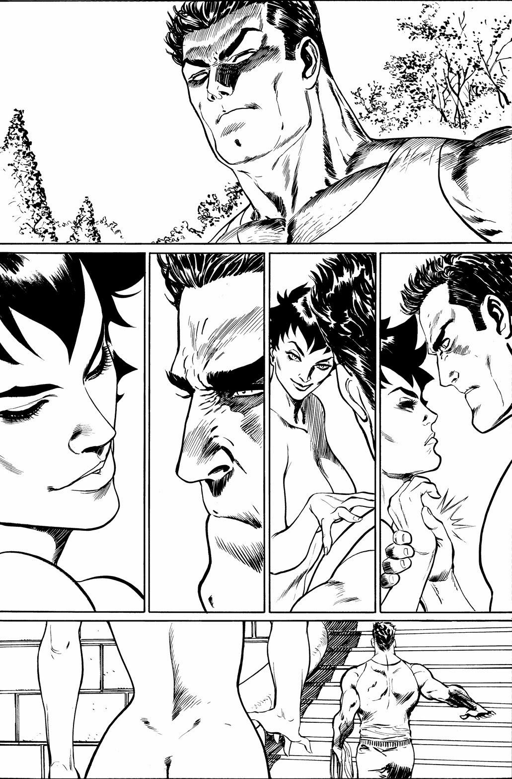 CATWOMAN #04 (more) unseen pages by Guillem March