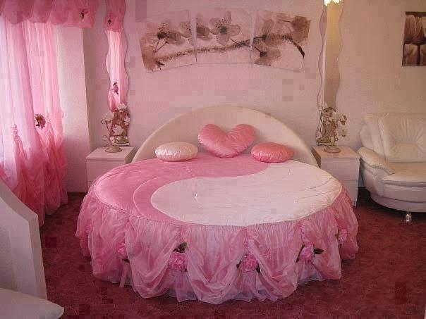 Stylishly romantic pink bedroom furniture set