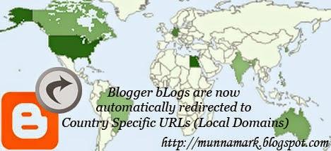 World map indicating blogger blog visitors