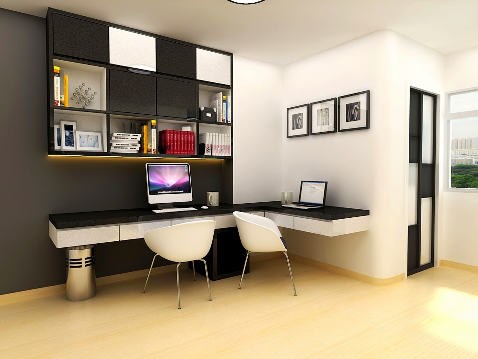 Decorating a study room in your home a room for everyone for Decorating ideas for computer room