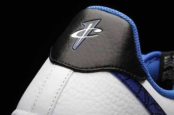 First we have the 1/2 Cent logo heel tab and sole, leather mixed in with  tumbled leather, silver and black striped tongue for Penny's Orlando Magic  Jersey ...