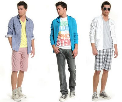 3 styles of  casual wear for men