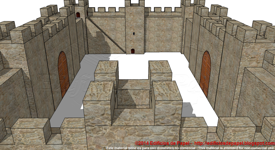 Gates, doors, battlements, towers, walls and stairs in your Medieval Wall
