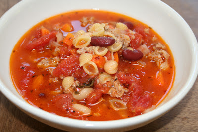 "COOK WITH SUSAN: Spicy Pasta and Bean Soup ""Pasta e Fagioli"""