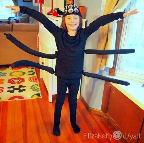 last minute spider costume