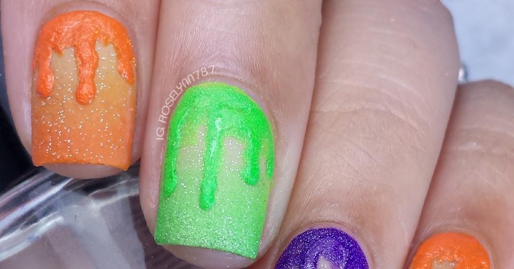 great nail art ideas - orange