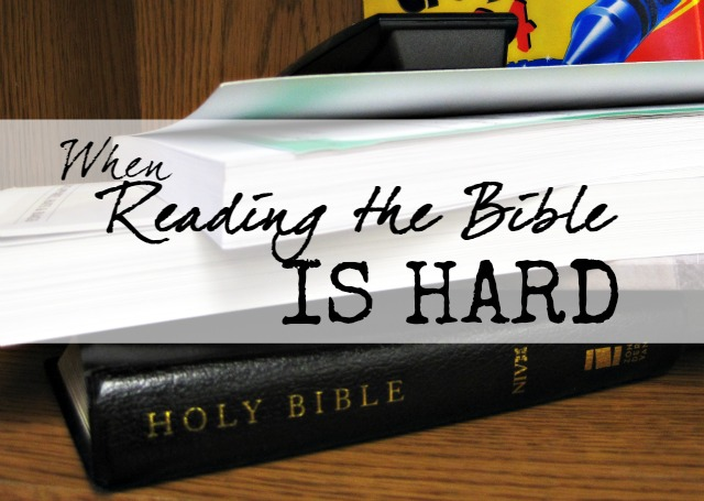 When Reading the Bible is Hard: Support, Resources and Encouragement for the reluctant Bible reader