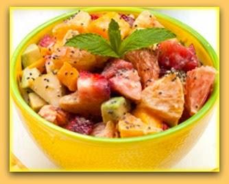 Salada de frutas com chia
